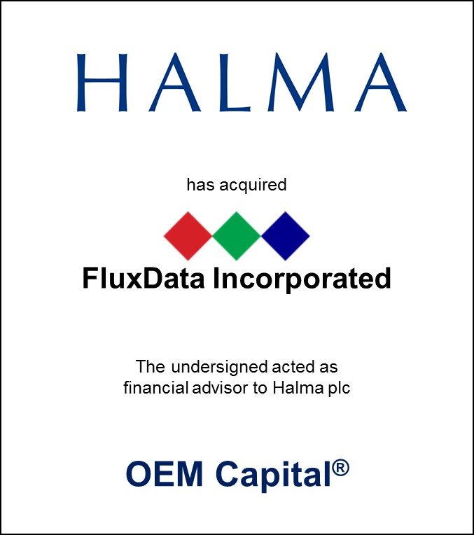 Halma has acquired FluxData Incorporated