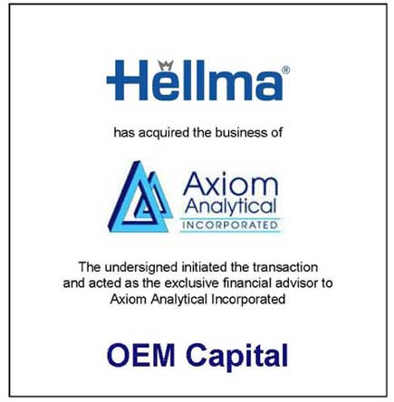 Hellma Has Acquired Axiom Analytical